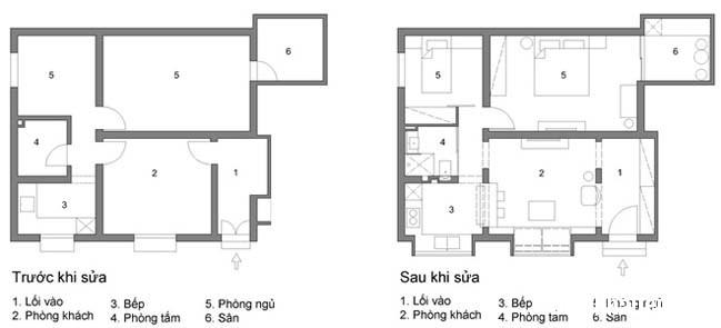bien nha cap 4 thanh khong gian dep tai ha noi 09 Cách biến ngôi nhà cũ thành không gian đẹp khang trang