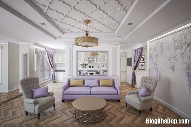 can ho cao cap 3 phong ngu voi phong cach co dien 01 Mẫu căn hộ 3 phòng ngủ với thiết kế cổ điển và sang trọng