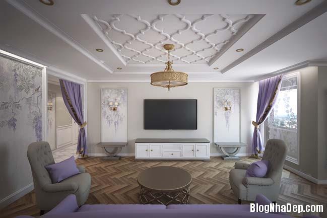 can ho cao cap 3 phong ngu voi phong cach co dien 02 Mẫu căn hộ 3 phòng ngủ với thiết kế cổ điển và sang trọng