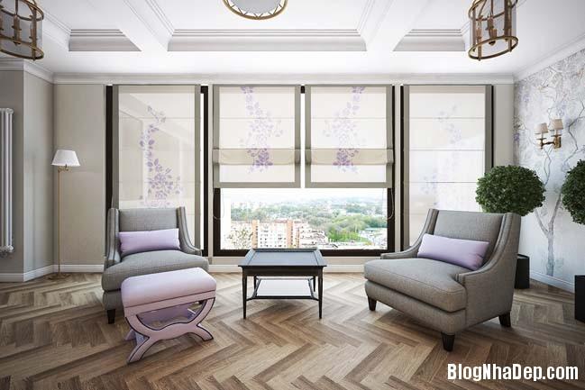 can ho cao cap 3 phong ngu voi phong cach co dien 06 Mẫu căn hộ 3 phòng ngủ với thiết kế cổ điển và sang trọng