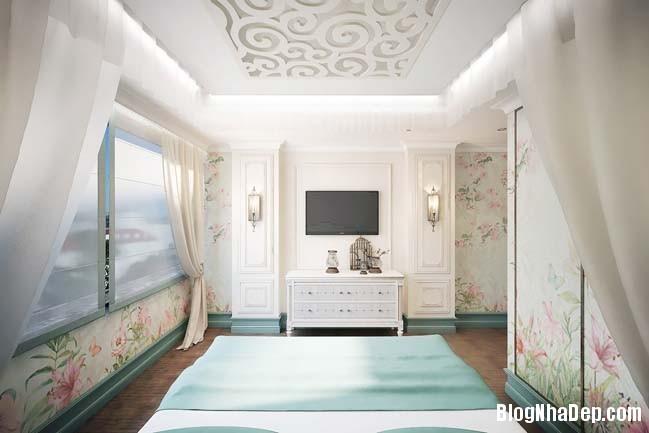 can ho cao cap 3 phong ngu voi phong cach co dien 10 Mẫu căn hộ 3 phòng ngủ với thiết kế cổ điển và sang trọng