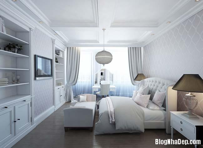 can ho cao cap 3 phong ngu voi phong cach co dien 17 Mẫu căn hộ 3 phòng ngủ với thiết kế cổ điển và sang trọng