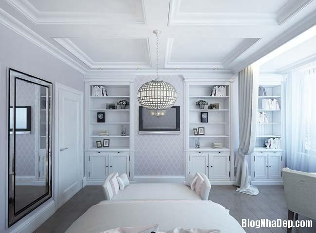 can ho cao cap 3 phong ngu voi phong cach co dien 19 Mẫu căn hộ 3 phòng ngủ với thiết kế cổ điển và sang trọng