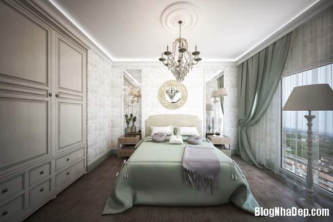 can ho cao cap 3 phong ngu voi phong cach co dien 23 Mẫu căn hộ 3 phòng ngủ với thiết kế cổ điển và sang trọng
