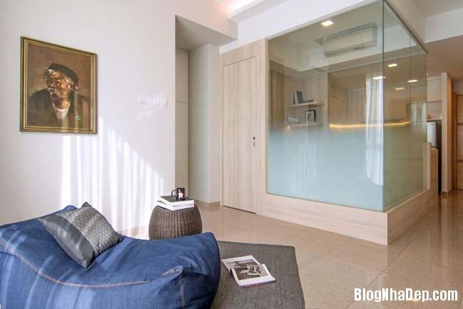 mau thiet ke can ho chung cu 42m2 01 Mẫu thiết kế cực đẹp cho căn hộ chung cư 42m2