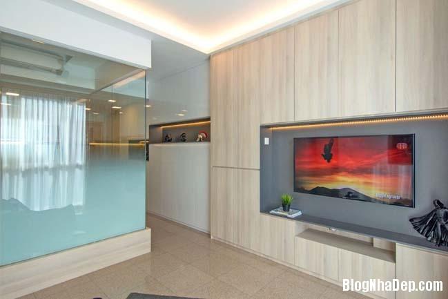 mau thiet ke can ho chung cu 42m2 02 Mẫu thiết kế cực đẹp cho căn hộ chung cư 42m2