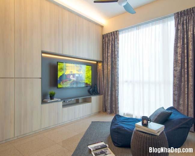 mau thiet ke can ho chung cu 42m2 04 Mẫu thiết kế cực đẹp cho căn hộ chung cư 42m2