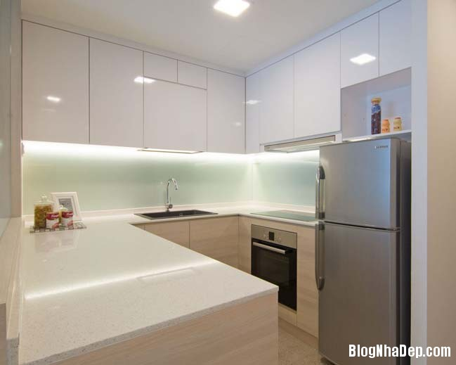 mau thiet ke can ho chung cu 42m2 07 Mẫu thiết kế cực đẹp cho căn hộ chung cư 42m2