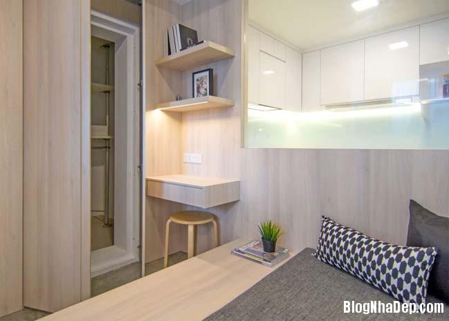 mau thiet ke can ho chung cu 42m2 09 Mẫu thiết kế cực đẹp cho căn hộ chung cư 42m2