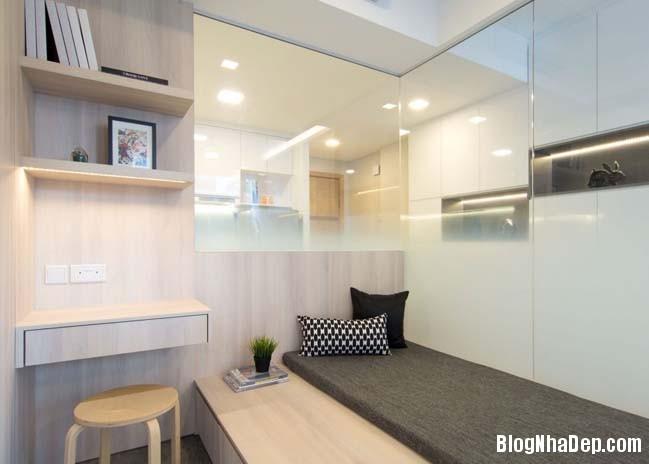 mau thiet ke can ho chung cu 42m2 10 Mẫu thiết kế cực đẹp cho căn hộ chung cư 42m2