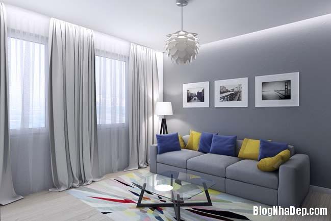 mau thiet ke nha pho dep 081 Mẫu nội thất nhà phố cực đẹp với tông màu sáng trang nhã