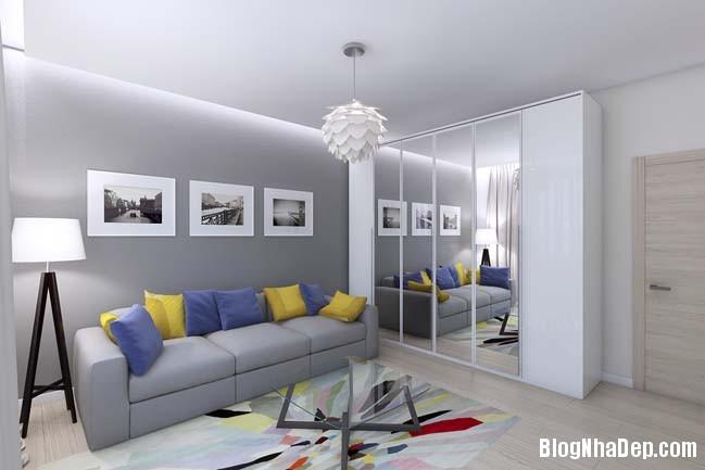 mau thiet ke nha pho dep 091 Mẫu nội thất nhà phố cực đẹp với tông màu sáng trang nhã