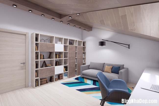 mau thiet ke nha pho dep 121 Mẫu nội thất nhà phố cực đẹp với tông màu sáng trang nhã