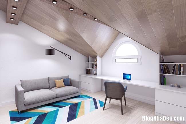 mau thiet ke nha pho dep 131 Mẫu nội thất nhà phố cực đẹp với tông màu sáng trang nhã