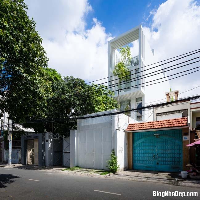 mau nha pho dep 01 Mẫu nhà phố đẹp 4 tầng mang tên là Kính Vạn Hoa