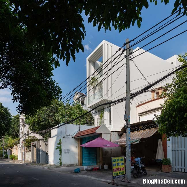 mau nha pho dep 02 Mẫu nhà phố đẹp 4 tầng mang tên là Kính Vạn Hoa