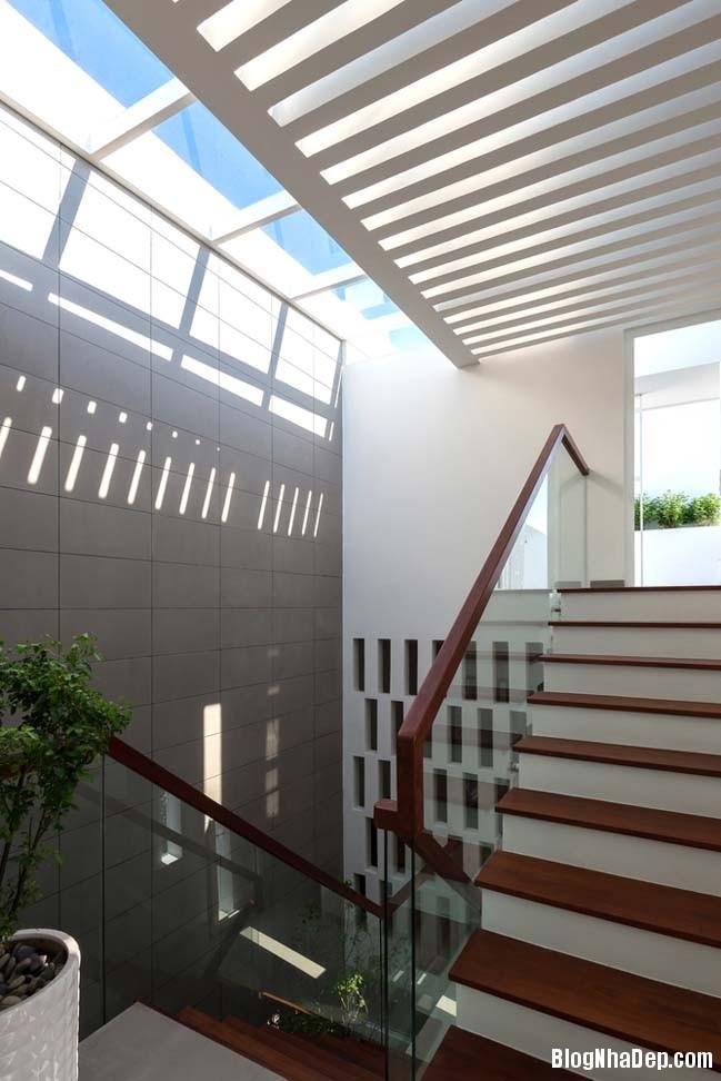 mau nha pho dep 09 Mẫu nhà phố đẹp 4 tầng mang tên là Kính Vạn Hoa