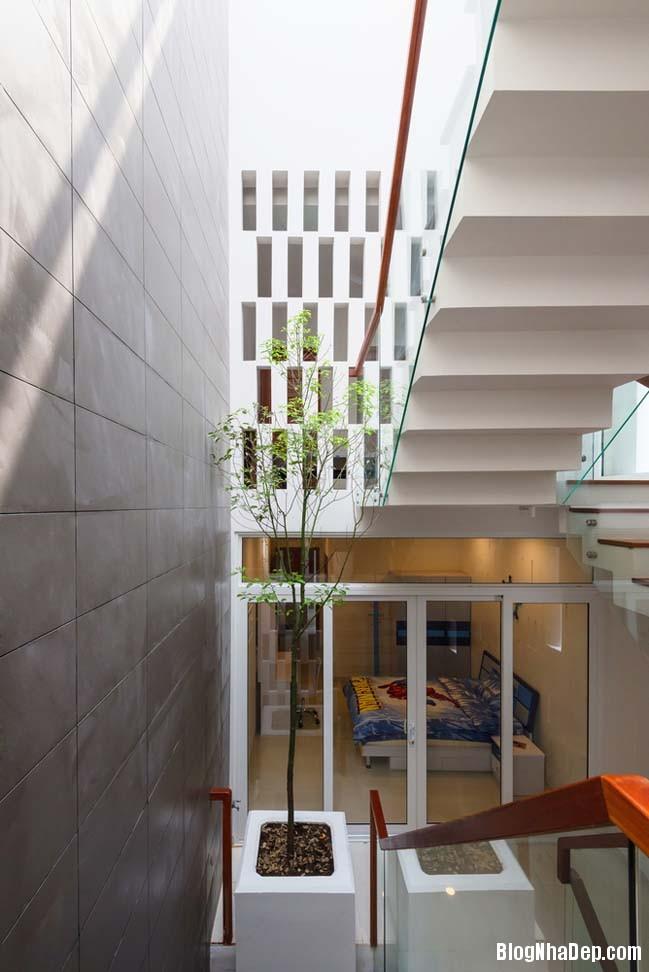 mau nha pho dep 10 Mẫu nhà phố đẹp 4 tầng mang tên là Kính Vạn Hoa