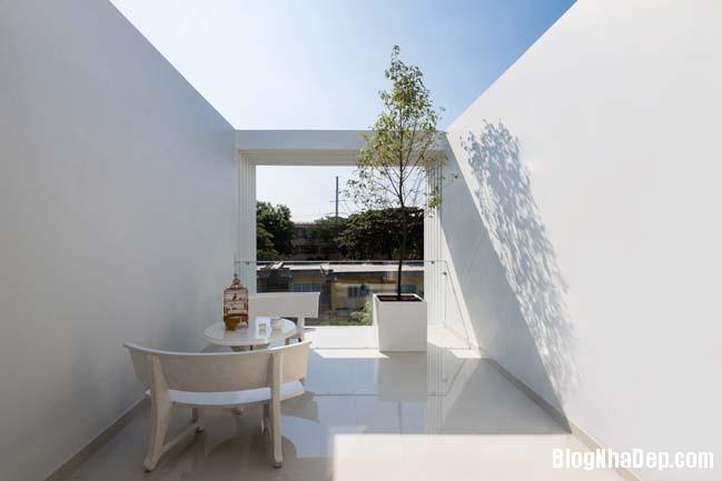 mau nha pho dep 12 Mẫu nhà phố đẹp 4 tầng mang tên là Kính Vạn Hoa
