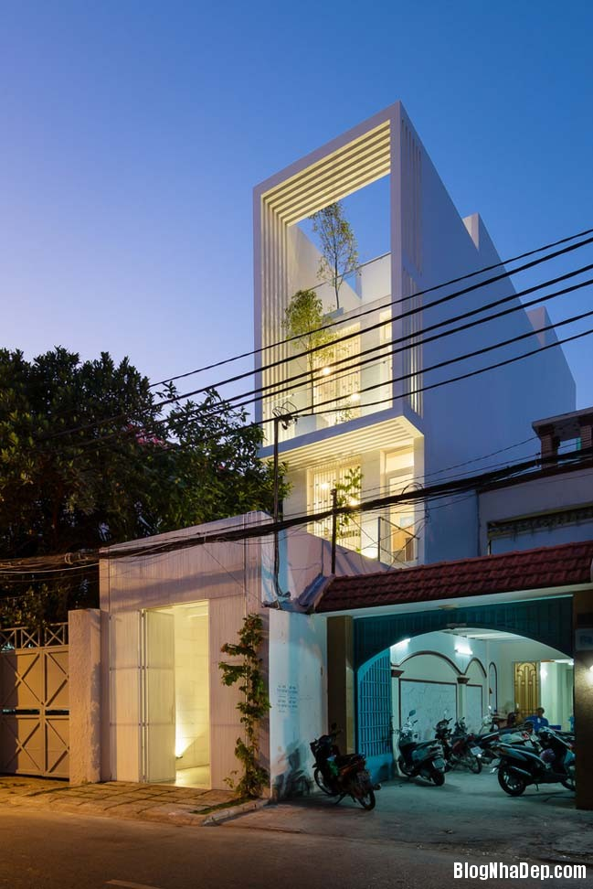 mau nha pho dep 14 Mẫu nhà phố đẹp 4 tầng mang tên là Kính Vạn Hoa
