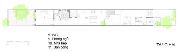 mau nha pho dep 16 Mẫu nhà phố đẹp 4 tầng mang tên là Kính Vạn Hoa