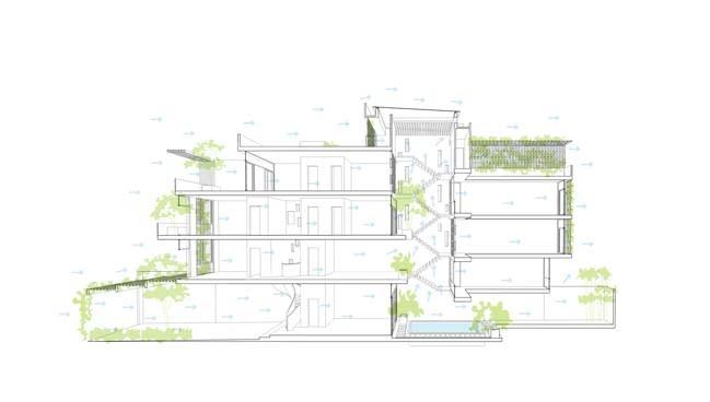 mau nha pho dep 20 Mẫu nhà phố đẹp 4 tầng mang tên là Kính Vạn Hoa