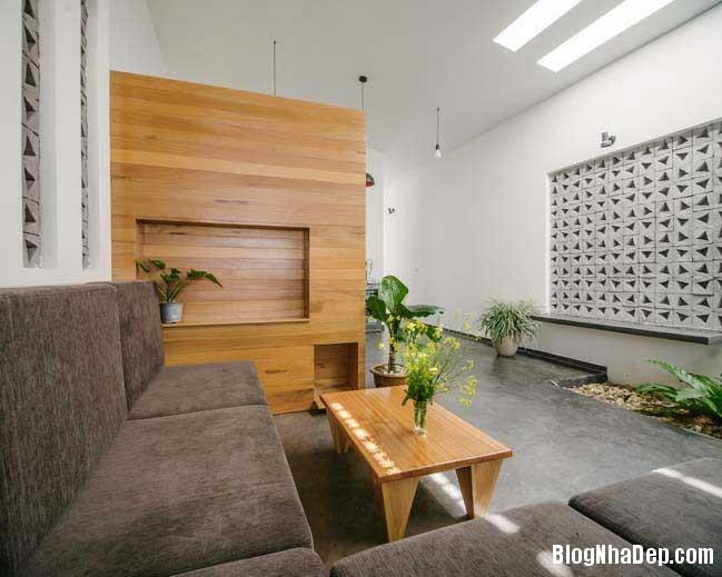nha dep 1 tang 03 Mẫu thiết kế nhà đẹp 1 tầng ngập tràn ánh sáng lung linh