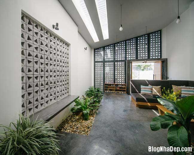 nha dep 1 tang 06 Mẫu thiết kế nhà đẹp 1 tầng ngập tràn ánh sáng lung linh