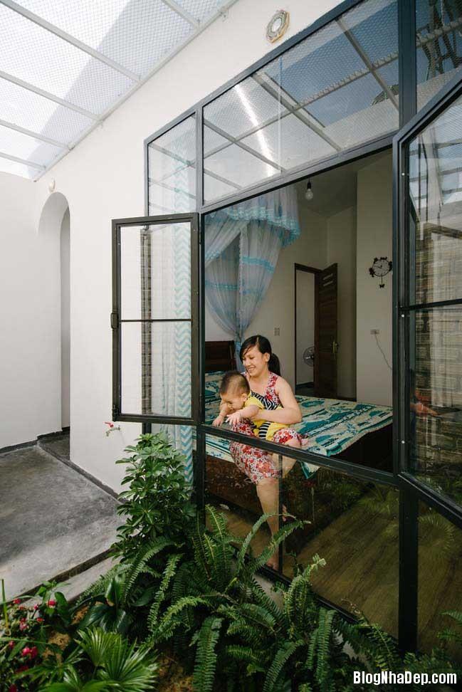 nha dep 1 tang 17 Mẫu thiết kế nhà đẹp 1 tầng ngập tràn ánh sáng lung linh