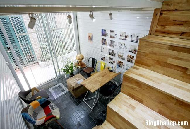 mau nha pho nho dep 10m2 03 Biến ngôi nhà phố nhỏ hẹp thành văn phòng ngập tràn ánh sáng