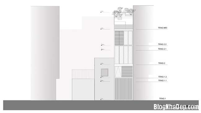 mau nha pho nho dep 10m2 16 Biến ngôi nhà phố nhỏ hẹp thành văn phòng ngập tràn ánh sáng