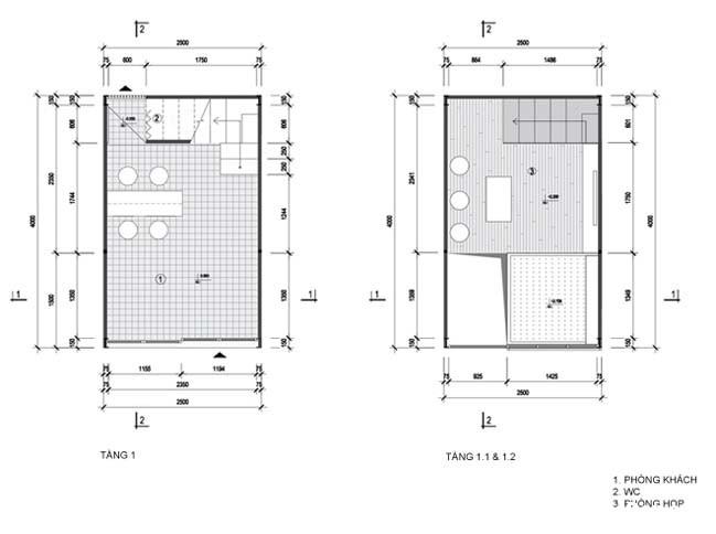 mau nha pho nho dep 10m2 17 Biến ngôi nhà phố nhỏ hẹp thành văn phòng ngập tràn ánh sáng
