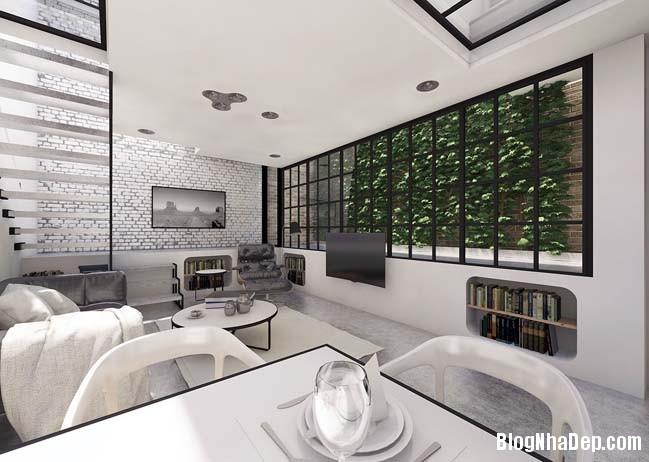 mau nha 2 tang don gian 01 Mẫu nhà 2 tầng đơn giản nhưng cực đẹp với thiết kế hiện đại