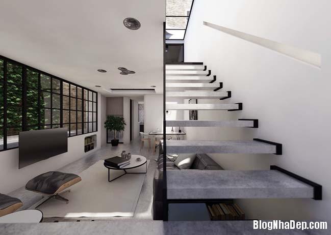 mau nha 2 tang don gian 02 Mẫu nhà 2 tầng đơn giản nhưng cực đẹp với thiết kế hiện đại