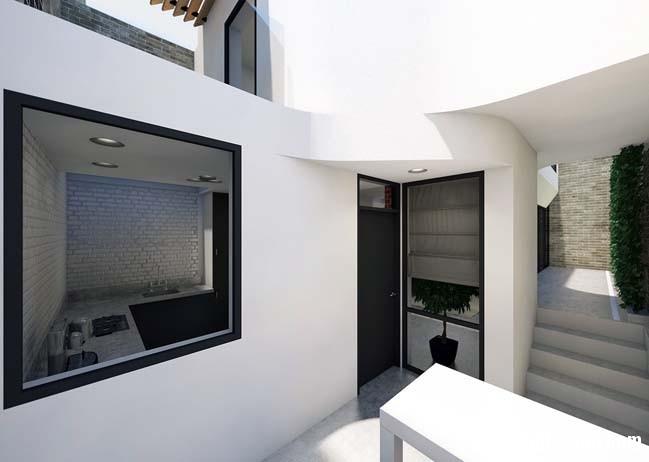 mau nha 2 tang don gian 031 Mẫu nhà 2 tầng đơn giản nhưng cực đẹp với thiết kế hiện đại