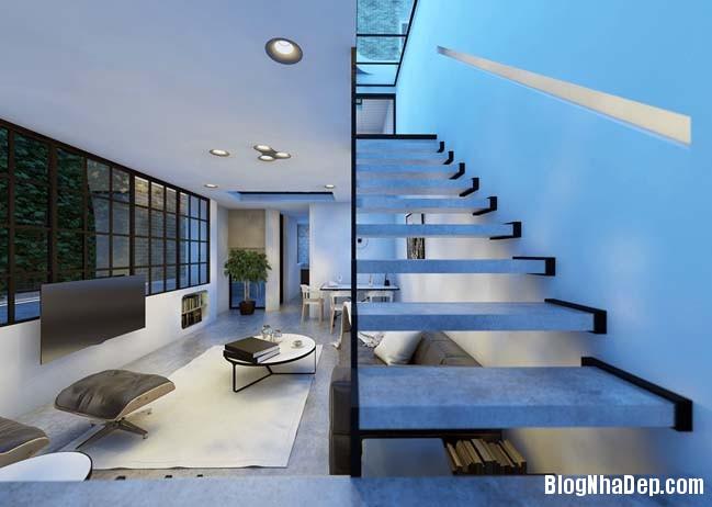 mau nha 2 tang don gian 05 Mẫu nhà 2 tầng đơn giản nhưng cực đẹp với thiết kế hiện đại