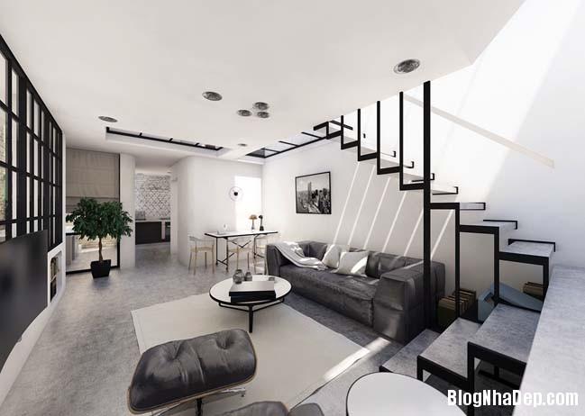 mau nha 2 tang don gian Mẫu nhà 2 tầng đơn giản nhưng cực đẹp với thiết kế hiện đại