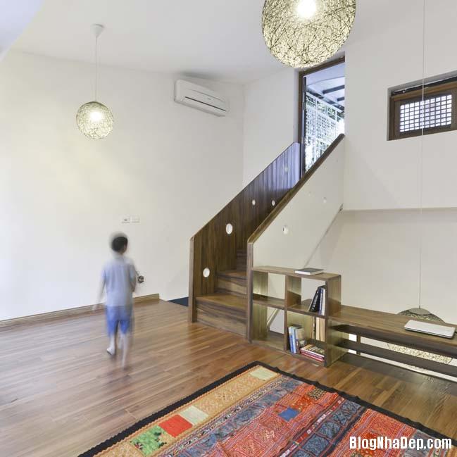 nha pho dep 021 Cải tạo mẫu nhà phố đẹp với thiết kế rất thông thoáng