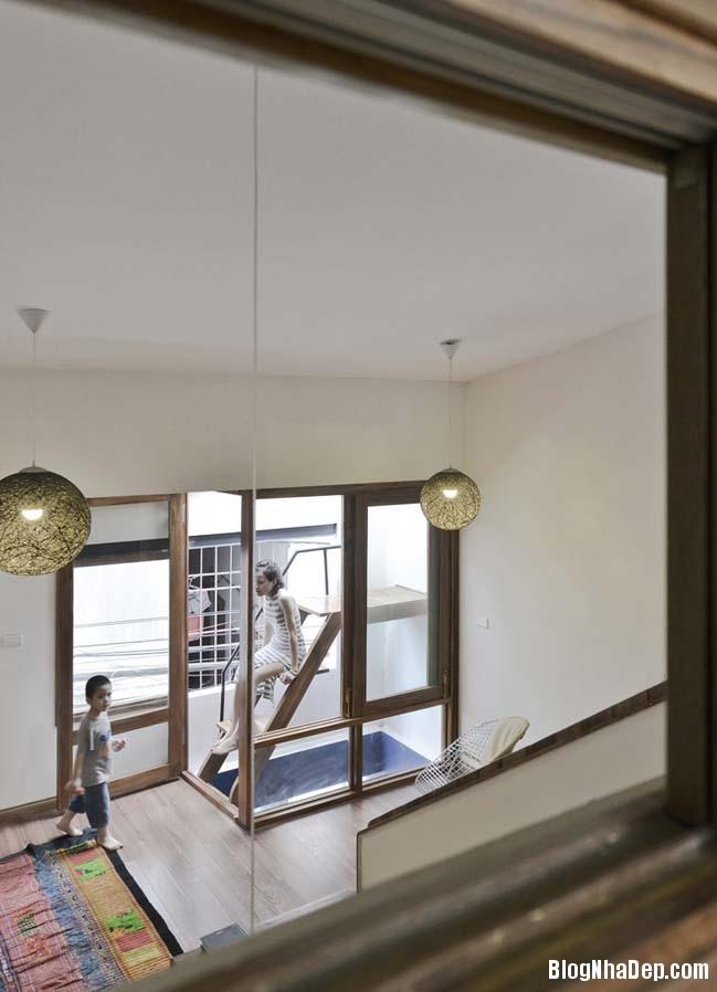 nha pho dep 071 Cải tạo mẫu nhà phố đẹp với thiết kế rất thông thoáng