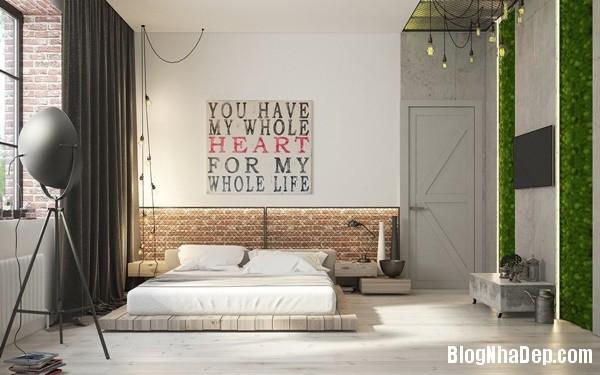 can ho cong nghiep voi bang mau am ap 09 Mẫu thiết kế căn hộ công nghiệp với bảng màu ấm áp