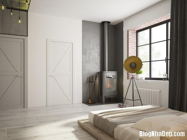 can ho cong nghiep voi bang mau am ap 10 Mẫu thiết kế căn hộ công nghiệp với bảng màu ấm áp