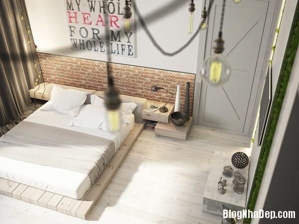 can ho cong nghiep voi bang mau am ap 12 Mẫu thiết kế căn hộ công nghiệp với bảng màu ấm áp
