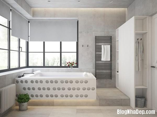 can ho cong nghiep voi bang mau am ap 17 Mẫu thiết kế căn hộ công nghiệp với bảng màu ấm áp