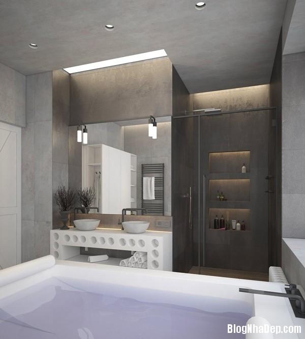 can ho cong nghiep voi bang mau am ap 21 Mẫu thiết kế căn hộ công nghiệp với bảng màu ấm áp