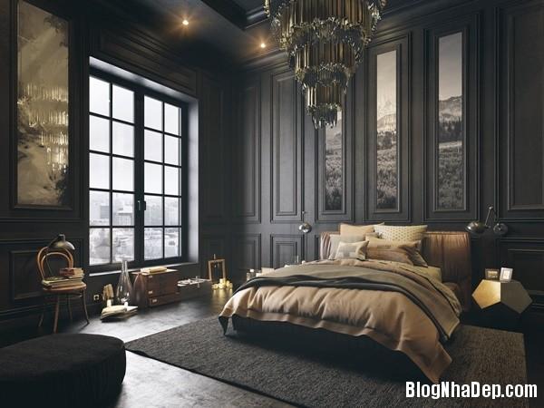 ngat ngay voi mau phong ngu toi gian 11 Mẫu thiết kế tinh tế quyến rũ của mẫu phòng ngủ tối màu