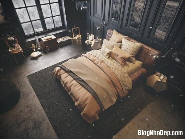 ngat ngay voi mau phong ngu toi gian 12 Mẫu thiết kế tinh tế quyến rũ của mẫu phòng ngủ tối màu