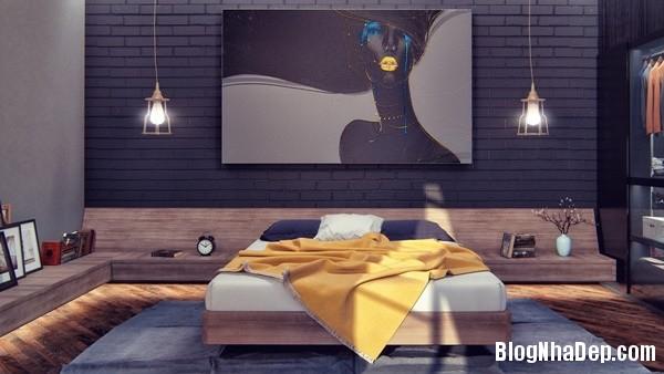 ngat ngay voi mau phong ngu toi gian 15 Mẫu thiết kế tinh tế quyến rũ của mẫu phòng ngủ tối màu