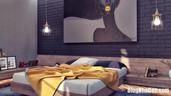 ngat ngay voi mau phong ngu toi gian 17 Mẫu thiết kế tinh tế quyến rũ của mẫu phòng ngủ tối màu
