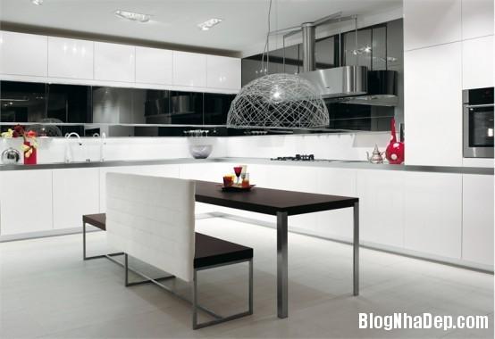 020834l 1 Nhờ biết cách phối màu mà căn bếp trông thanh lịch hẳn