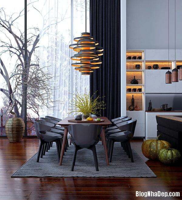 020209l 6 Những mẫu đèn chiếu sáng hiện đại dành cho không gian phòng ăn